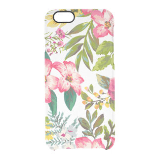 Vintage Tropical Floral iphone6 Clear Case Uncommon Clearly™ Deflector iPhone 6 Case