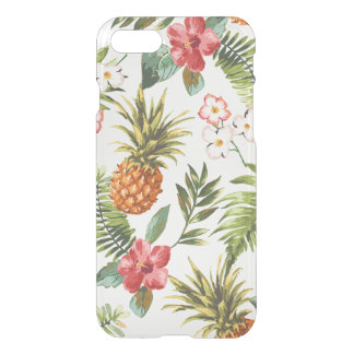 Vintage Tropical Floral iPhone 7 Clear Case