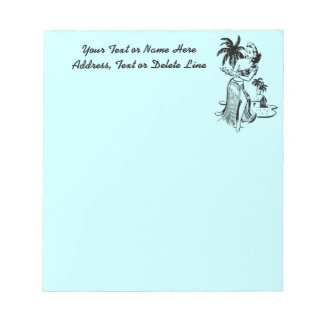 Vintage Tropical Hawaiian Hula Dancer Personalized Memo Note Pad