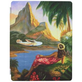 Vintage Tropical Hawaiian Sea Plane Palm Tree iPad iPad Smart Cover