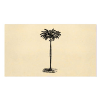 Vintage Tropical Island Palm TreeTemplate Blank Business Cards