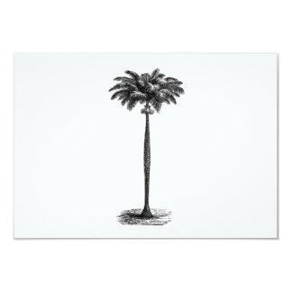 Vintage Tropical Island Palm TreeTemplate Blank Invitations