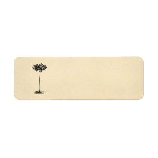 Vintage Tropical Island Palm TreeTemplate Blank Label