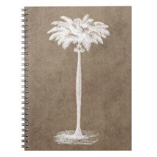 Vintage Tropical Island Palm TreeTemplate Blank Notebook