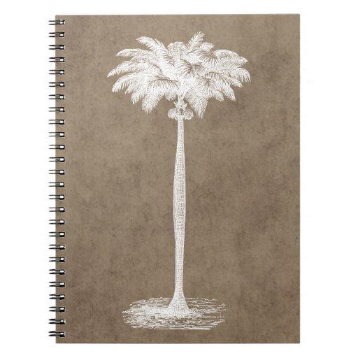 Vintage Tropical Island Palm TreeTemplate Blank Journal
