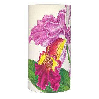 Vintage Tropical Orchid Flowers Floral Island Flameless Candle