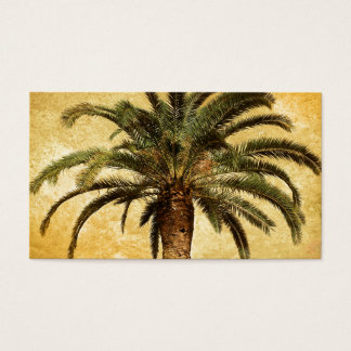 Vintage Tropical Palm Tree Business Card