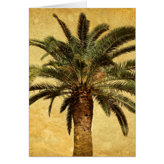 Vintage Tropical Palm Tree Greeting Cards