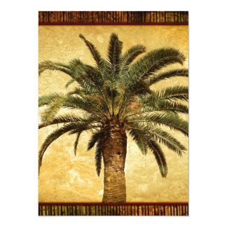 Vintage Tropical Palm Tree Card