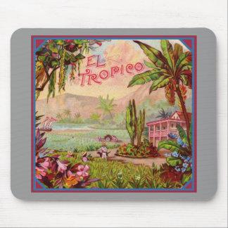 Vintage Tropical Plantation Mouse Pad