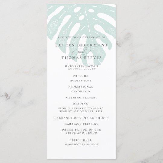 vintage tropics double sided wedding program zazzle com