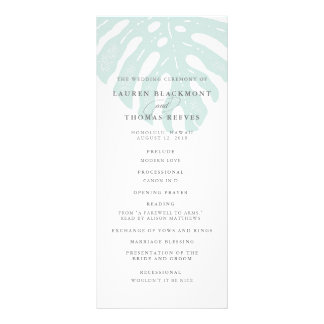Vintage Tropics Double Sided Wedding Program