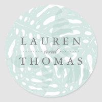 Vintage Tropics Wedding Classic Round Sticker