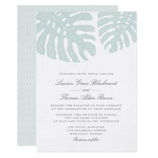Vintage Tropics Wedding Invitation