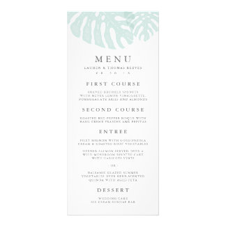 Vintage Tropics Wedding Menu Card