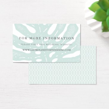 Beach Themed Vintage Tropics Wedding Website Cards