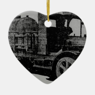 vintage truck antique look cool steampunk art ceramic ornament
