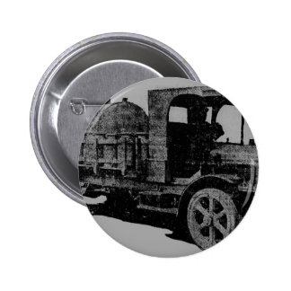 vintage truck antique look cool steampunk art pinback button