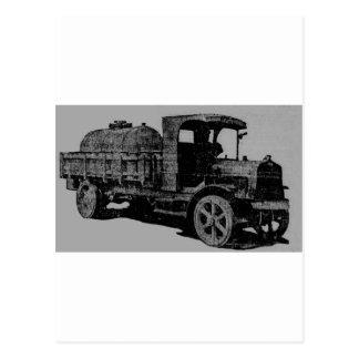 vintage truck antique look cool steampunk art postcard