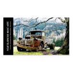 Vintage Truck Automotive Restoration Services Business Card Template