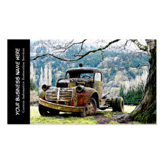 Vintage Truck Automotive Restoration Services Business Card Template