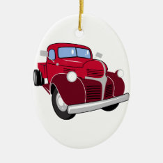 Vintage Truck Ceramic Ornament at Zazzle