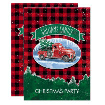 Vintage Truck Christmas Party Invitation