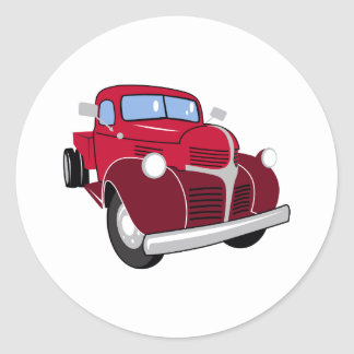 Vintage Truck Classic Round Sticker