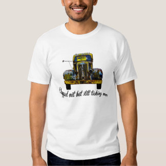 Vintage truck, Humor,Over the Hill. T Shirt
