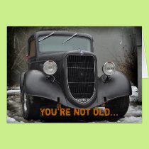 Vintage truck humorous friendship card