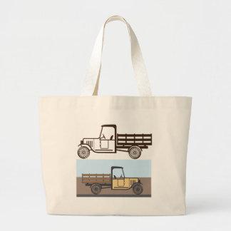 Vintage Truck Large Tote Bag