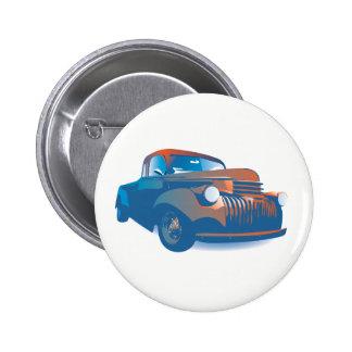 Vintage truck pinback button
