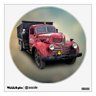 VINTAGE TRUCK WALL STICKER