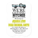 "Vintage Truck Wedding Invitation 5"" X 7"" Invitation Card"