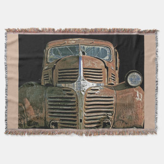 Vintage Truck..with your background color. Throw