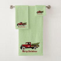 Vintage Truck Your Christmas Tree Farm Bath Towel Set