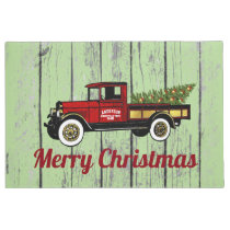Vintage Truck Your Christmas Tree Farm Doormat
