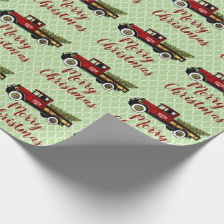 Vintage Truck Your Christmas Tree Farm Wrapping Paper