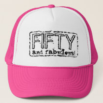Vintage trucker hat   50 and fabulous!