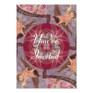 Vintage True Love Cupid On Bird 5x7 Paper Invitation Card