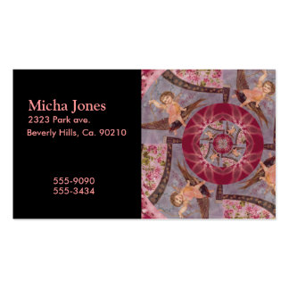 Vintage True Love Cupid On Bird Double-Sided Standard Business Cards (Pack Of 100)