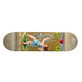 Vintage True Love Valentine Cupid Skateboard
