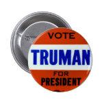 Vintage Truman Campaign Button Vote for Truman