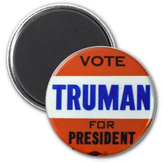 Vintage Truman Campaign Button Vote for Truman 2 Inch Round Magnet