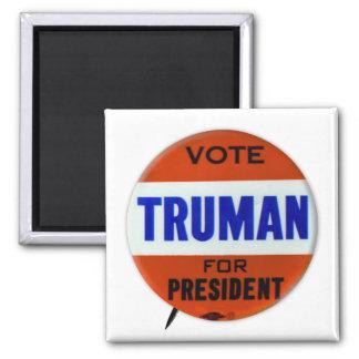 Vintage Truman Campaign Button Vote for Truman 2 Inch Square Magnet