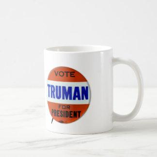 Vintage Truman Campaign Button Vote for Truman Coffee Mug