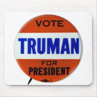 Vintage Truman Campaign Button Vote for Truman Mouse Pad