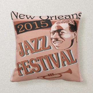 Vintage Trumpet player Fest Music Poster Pillows