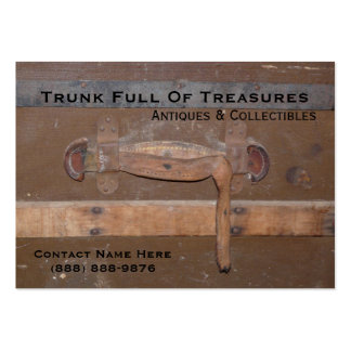 Vintage Trunk for Antiques and Collectibles Large Business Cards (Pack Of 100)