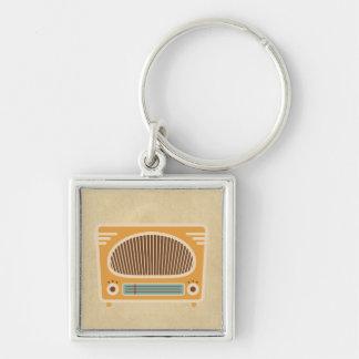 Vintage Tube Radio Collector Keychain